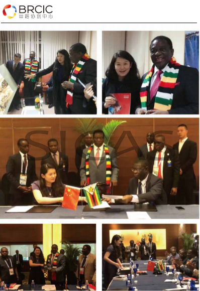 H.E.Mr.Ali Bongo Ondimba, president of Gabon and Ms.Zhang Lu, the founder, CEO, chairperson of SICAS